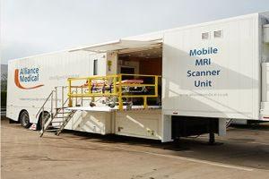mobile healthcare MRI scanner