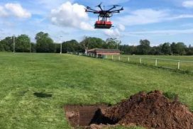 Drone GPR over Rugby Field